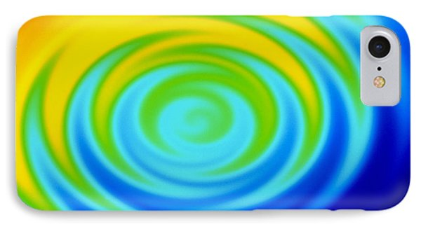 Ripples From Water Drop In Colours Phone Case by Mehau Kulyk