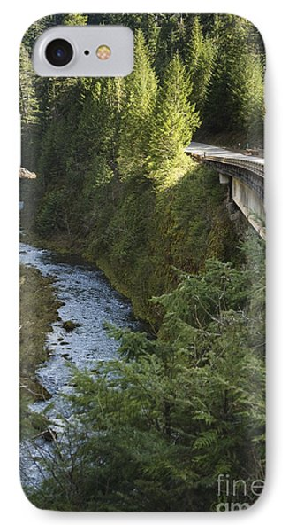 River In Gorge Next To Highway Phone Case by Ned Frisk