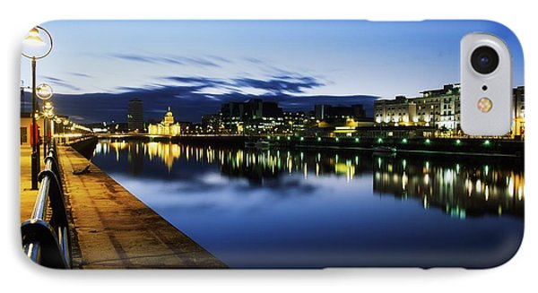 River Liffey, Sunset, View Of Customs Phone Case by The Irish Image Collection