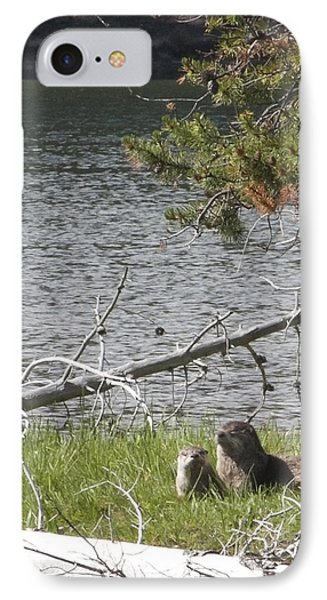 IPhone Case featuring the photograph River Otter by Belinda Greb