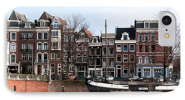 IPhone Case featuring the digital art River Scenes From Amsterdam by Carol Ailles
