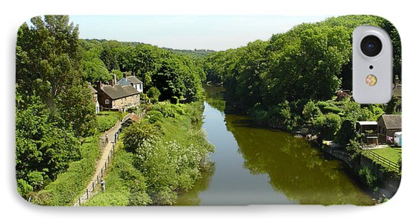 River Severn From The Iron Bridge Phone Case by Rod Johnson