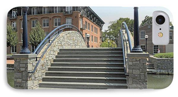 River Walk Bridge In Frederick Maryland IPhone Case by J Jaiam