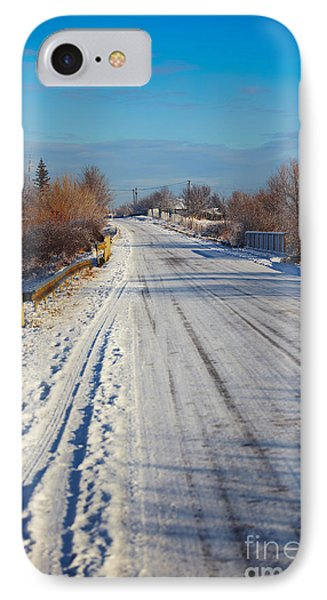 Road In Winter IPhone Case