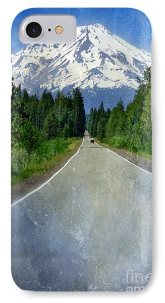 Road Leading To Snow Covered Mount Shasta Phone Case by Jill Battaglia