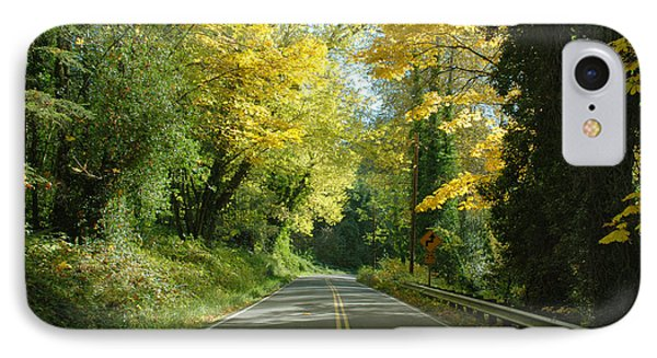 Road Through Autumn IPhone Case by Kathleen Grace