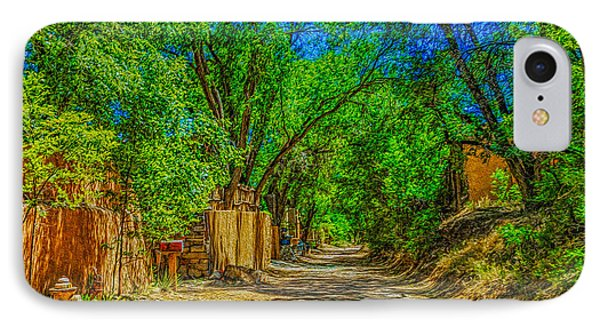 Road To Santa Fe IPhone Case by Ken Stanback