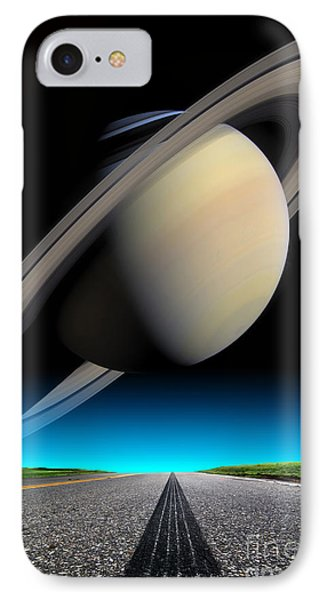 Road To Saturn Phone Case by Larry Landolfi and Photo Researchers