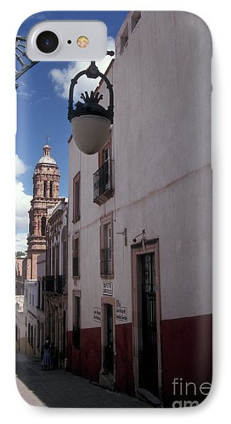 IPhone Case featuring the photograph Road To The Cathedral Zacatecas Mexico by John  Mitchell