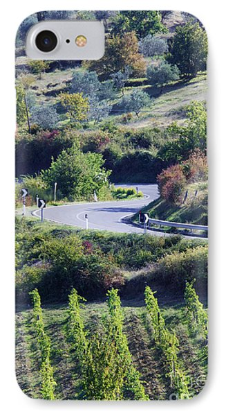 Road Winding Through Vineyard And Olive Trees Phone Case by Jeremy Woodhouse