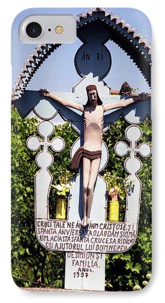 Roadside Crucifix Vi IPhone Case