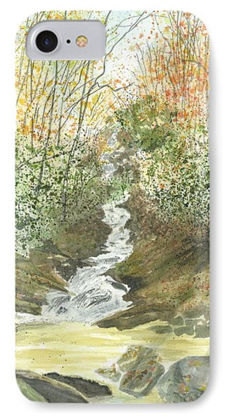 IPhone Case featuring the painting Roaring Fork Falls  by Joel Deutsch