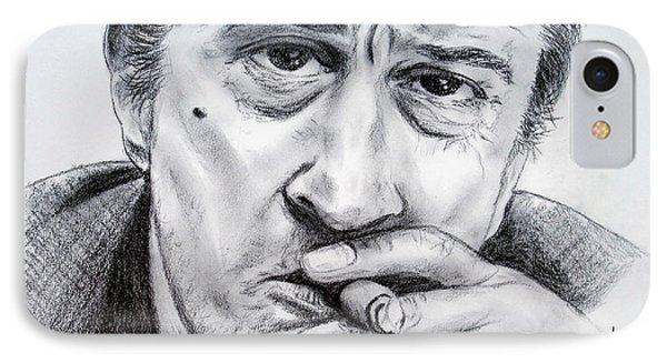 Robert De Niro IPhone Case by Jim Fitzpatrick