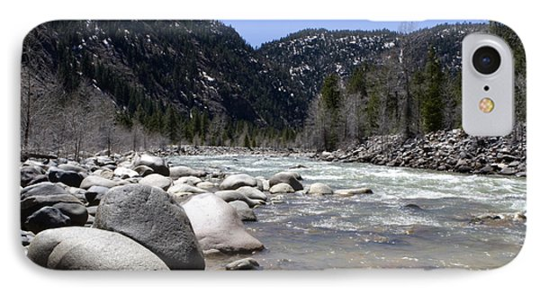 IPhone Case featuring the photograph Rock In The River by Lorraine Devon Wilke