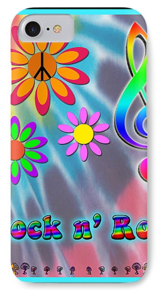Rock Music Poster Phone Case by Linda Seacord