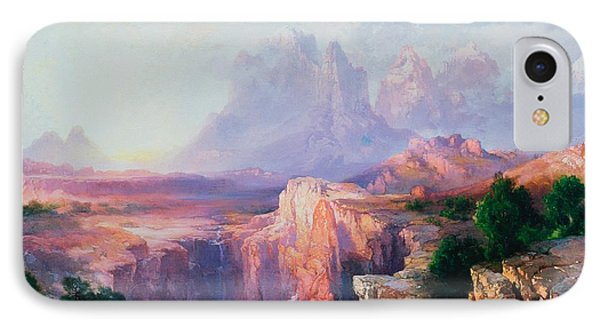 Rock Towers Of The Rio Virgin IPhone Case by Thomas Moran
