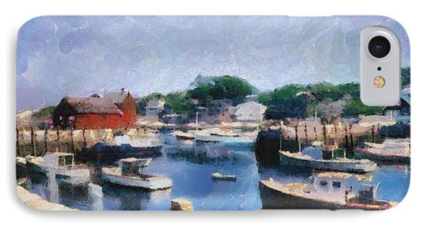 Rockport Maine Harbor IPhone Case by Michelle Calkins