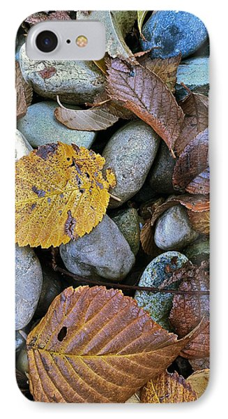 IPhone Case featuring the photograph Rocks And Leaves by Bill Owen