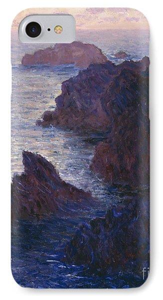 Rocks At Bell Ile Port Domois Phone Case by Claude Monet