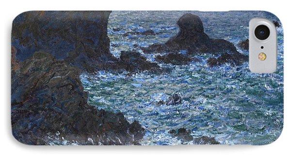 Rocks At Port Coton The Lion Rock IPhone Case by Claude Monet