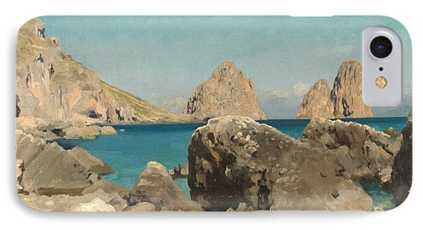 Rocks Of The Sirens Phone Case by Frederic Leighton