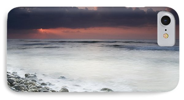 Rocky Beach At Sunrise Hawf Protected Phone Case by Sebastian Kennerknecht