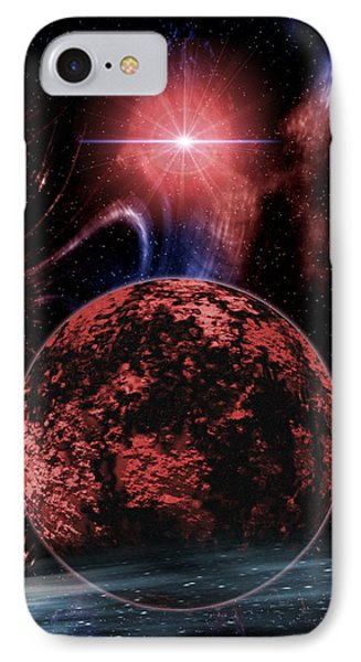 Rocky Extrasolar Planet Phone Case by Victor Habbick Visions