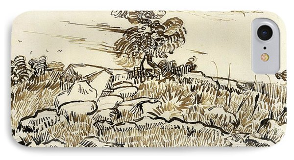 Rocky Ground At Montmajour IPhone Case by Vincent van Gogh