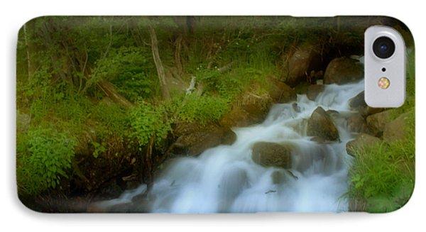 Rocky Mountain Waterfall Phone Case by Ellen Heaverlo