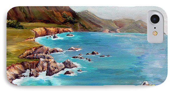 IPhone Case featuring the painting Rocky Point At Big Sur by Terry Taylor