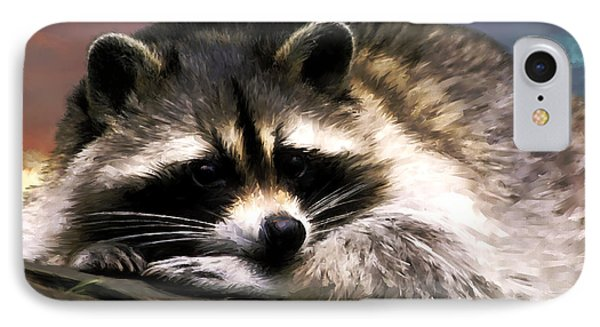 IPhone Case featuring the painting Rocky Raccoon by Robert Smith