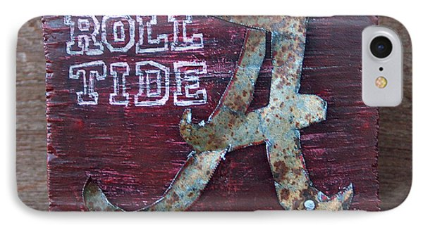 Roll Tide - Small Phone Case by Racquel Morgan