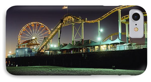 Rollercoaster And Ferris Wheel At Dusk Phone Case by Axiom Photographic