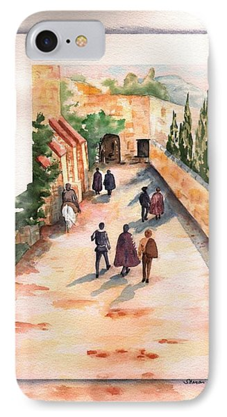 IPhone Case featuring the painting Roman Avenue by Sharon Mick