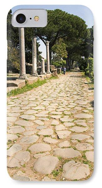 Roman Road, Ostia Antica Phone Case by Sheila Terry
