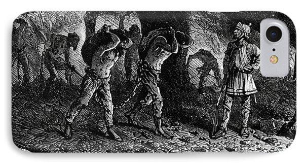 Roman Slavery: Coal Mine Phone Case by Granger
