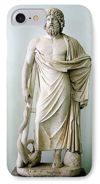 Roman Statue Of Asclepius Phone Case by Sheila Terry