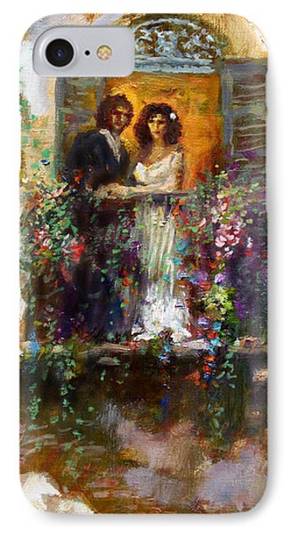Romance In Venice  Fragment Balcony IPhone Case by Ylli Haruni