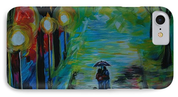 IPhone Case featuring the painting Romantic Stroll Series 1 by Leslie Allen