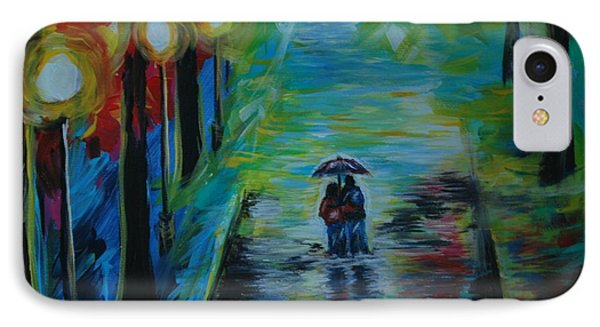 IPhone Case featuring the painting Romantic Stroll Series II by Leslie Allen