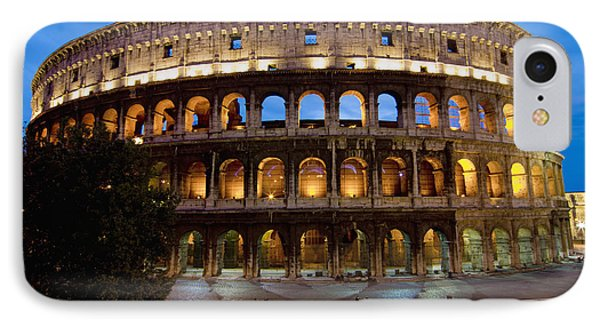 Rome Colosseum Dusk Phone Case by Axiom Photographic