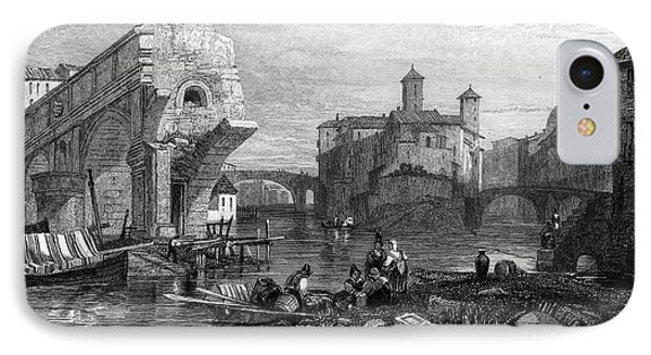 Rome: Ponte Rotto, 1833 Phone Case by Granger