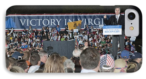 Romney In Leesburg Virginia IPhone Case by Jonathan E Whichard