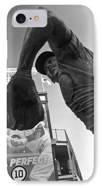 Ron Santo Sculpture IPhone Case by Sven Brogren