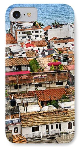 Rooftops In Puerto Vallarta Mexico Phone Case by Elena Elisseeva
