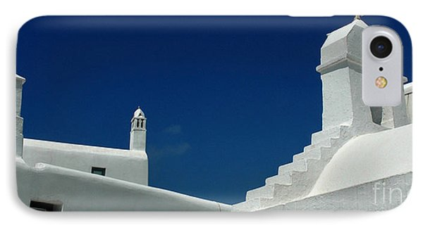 IPhone Case featuring the photograph Rooftops Of Mykonos by Vivian Christopher