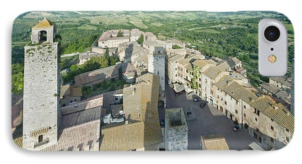 Rooftops Of San Gimignano Phone Case by Rob Tilley