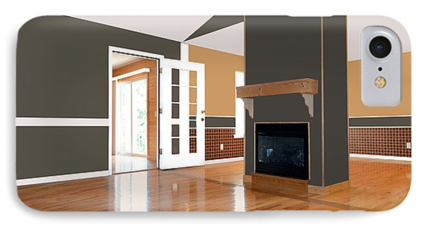 Room With Fireplace Phone Case by Susan Leggett