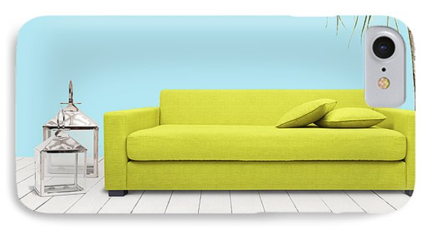 Room With Green Sofa IPhone Case by Atiketta Sangasaeng