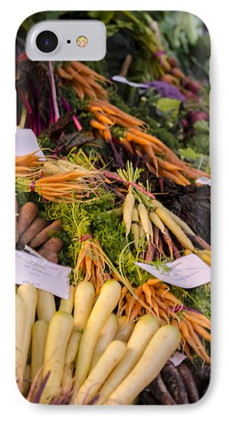 Root Vegetables At The Market Phone Case by Heather Applegate